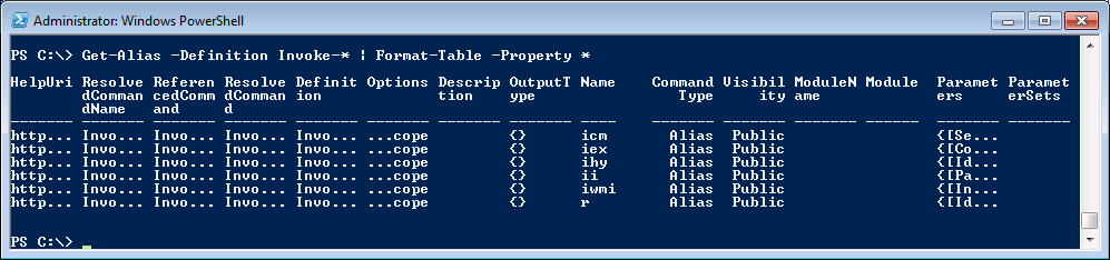 Powershell quick tip creating wide tables with powershell for 1005 can t create table