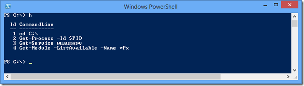 native powershell history
