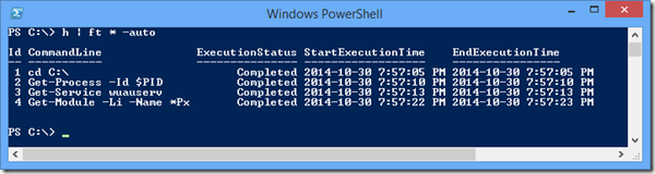 native powershell history expanded