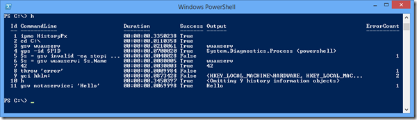 powershell extended history from HistoryPx